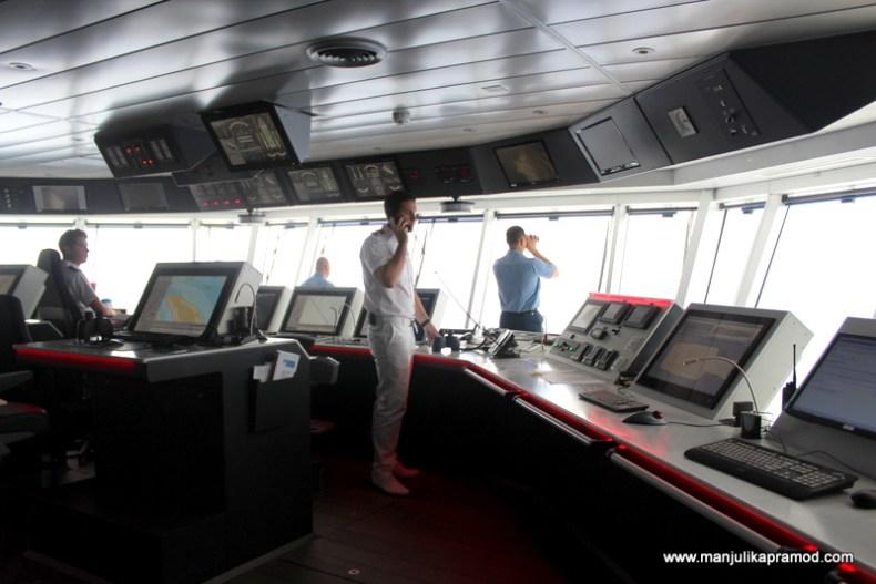 Bridge of a ship