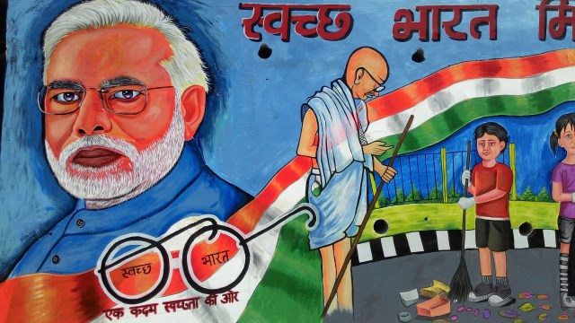 Clean India Wall Art