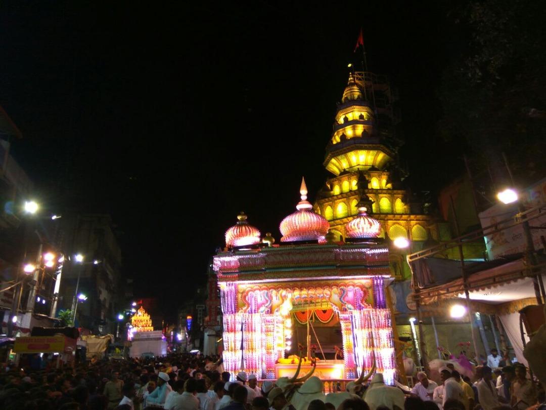 Dagdusheth temple during Ganpati