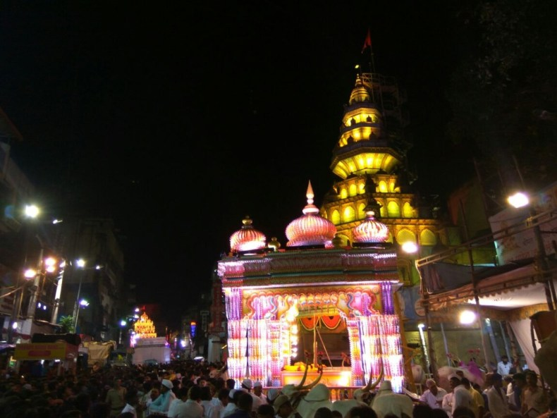 Dagdusheth temple during Ganpati
