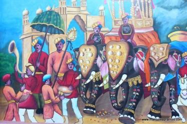 Mysore, Big celebrations of Dusshehra, Wall Art