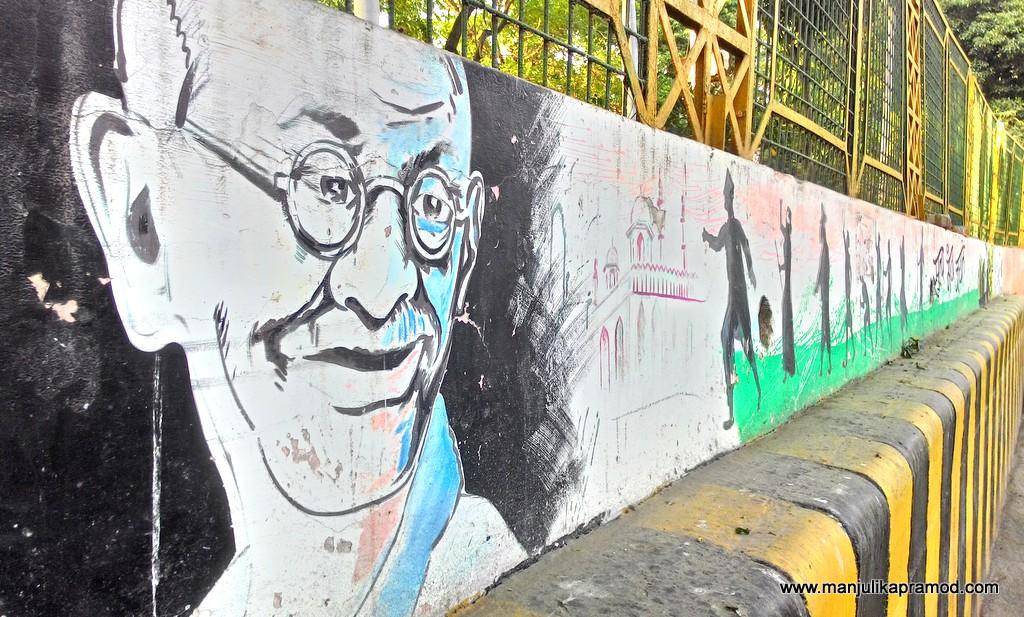 Moti Jheel, Wall art