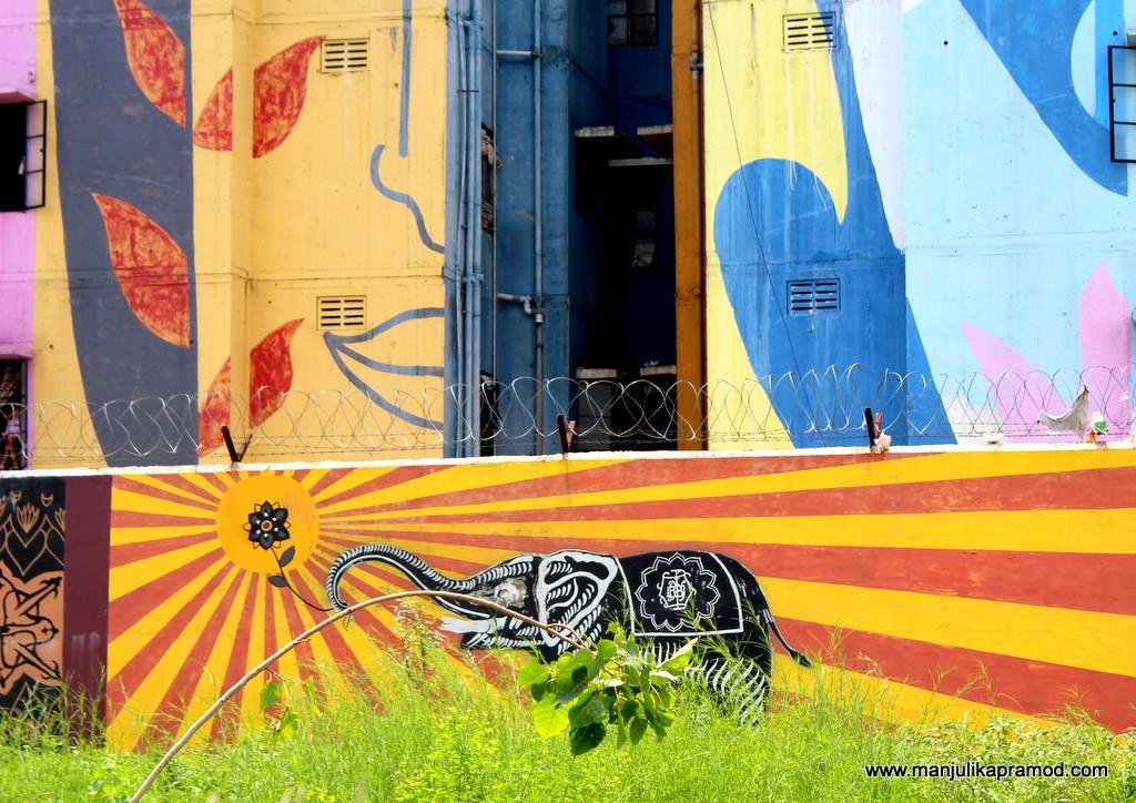 Wall art in Raipur