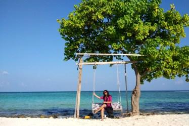 Girl, Swing, Gulhi Island, Travel