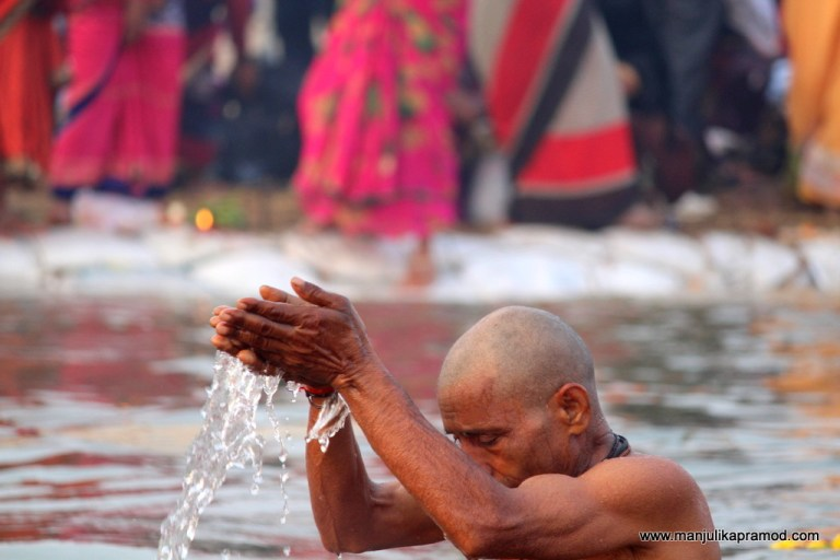The holy dip at Kumbh, Prayagraj