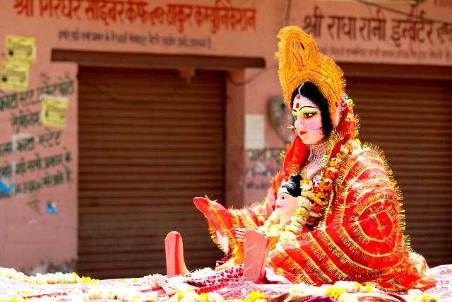 I celebrated Holi in Govardhan, Mathura