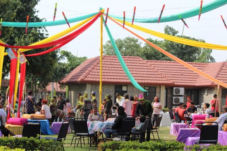 Holi party in Shri Radha Braj Resort and Spa