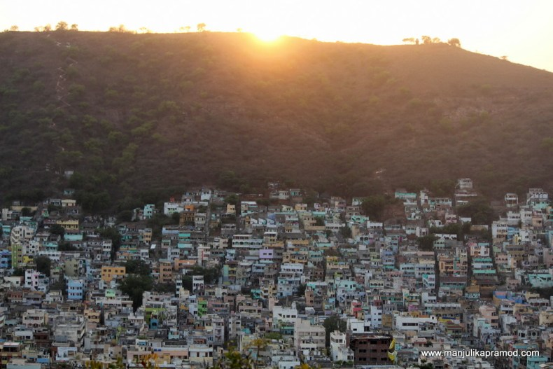 Just before Sunset can be a good time for Gandhi Hill