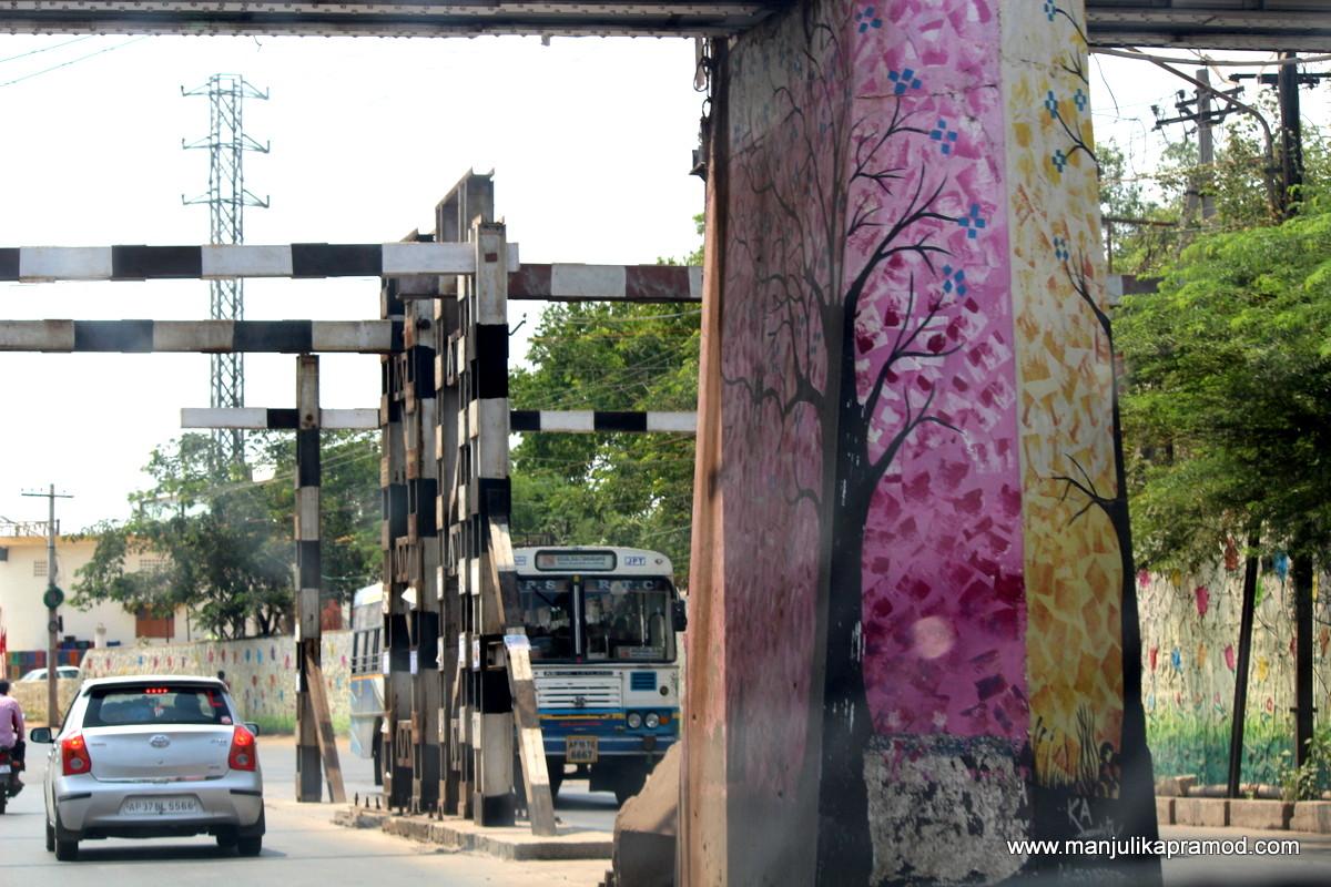 Painted bridges in Vijayawada