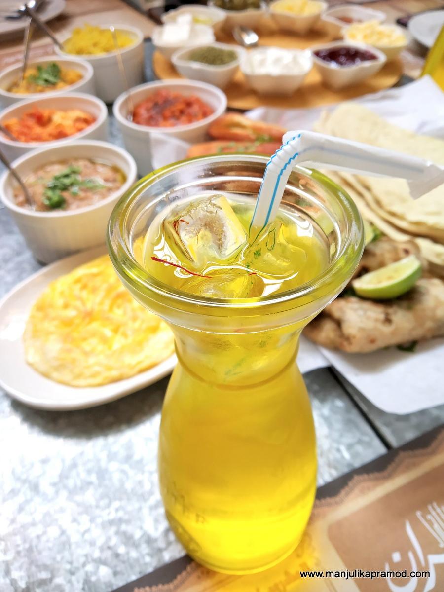You must go for breakfast at Saffron in Muhharaq. #Saffrondrink