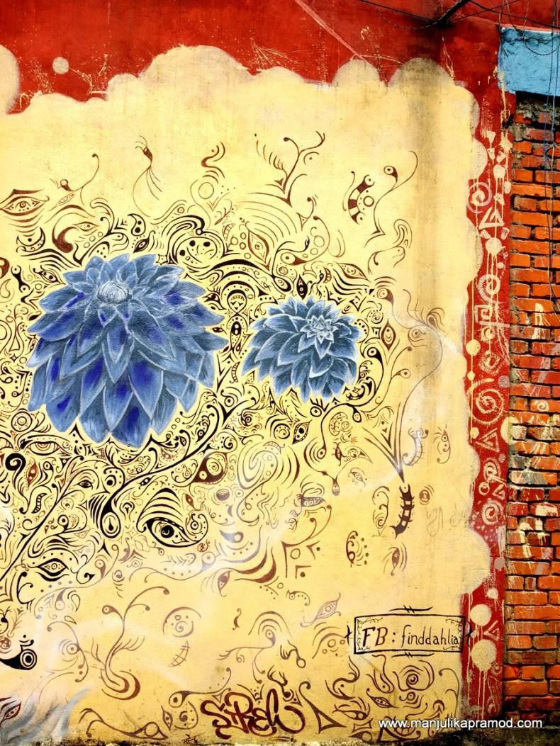 Street art in Pokhara
