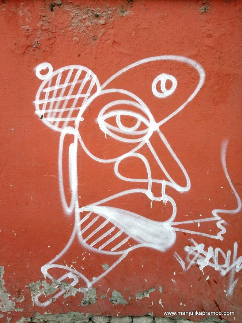 Creative wall arts in Nepal