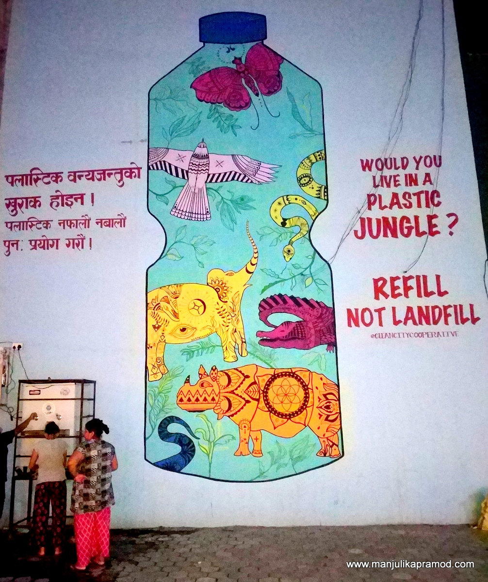 #Chitwan #Wildlife  I found this very meaningful wall art in Chitwan in Nepal.