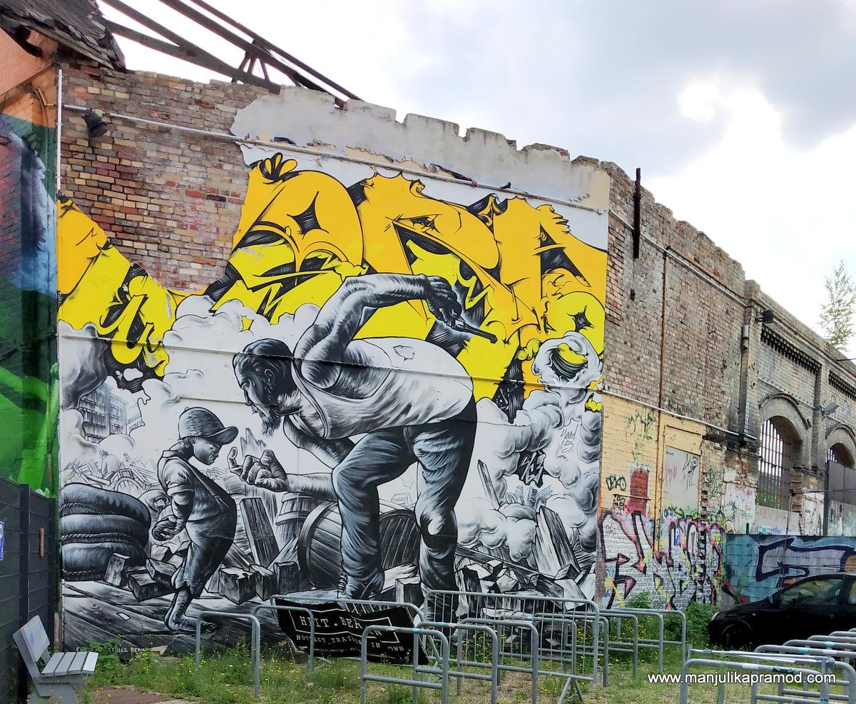 Street art trail in Berlin