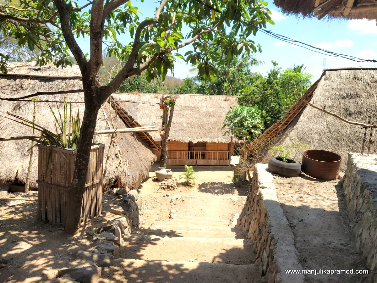 There are 35 houses in this Sasak Ende Village