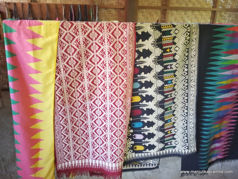 Some of the handmade Songket work