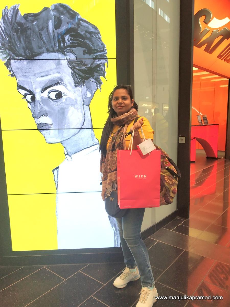 When I reached Vienna International Airport.