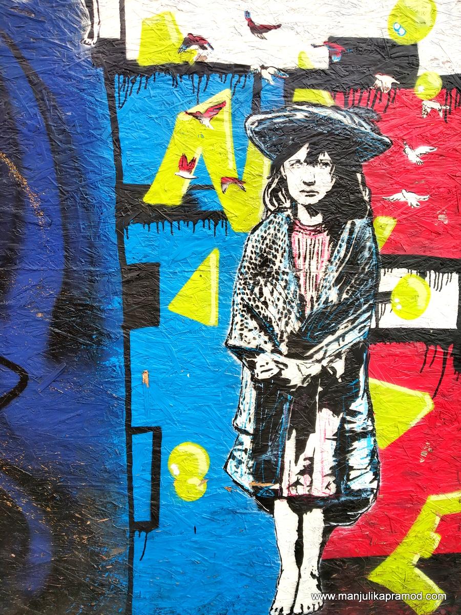 Quirky Street art in Reeperbahn