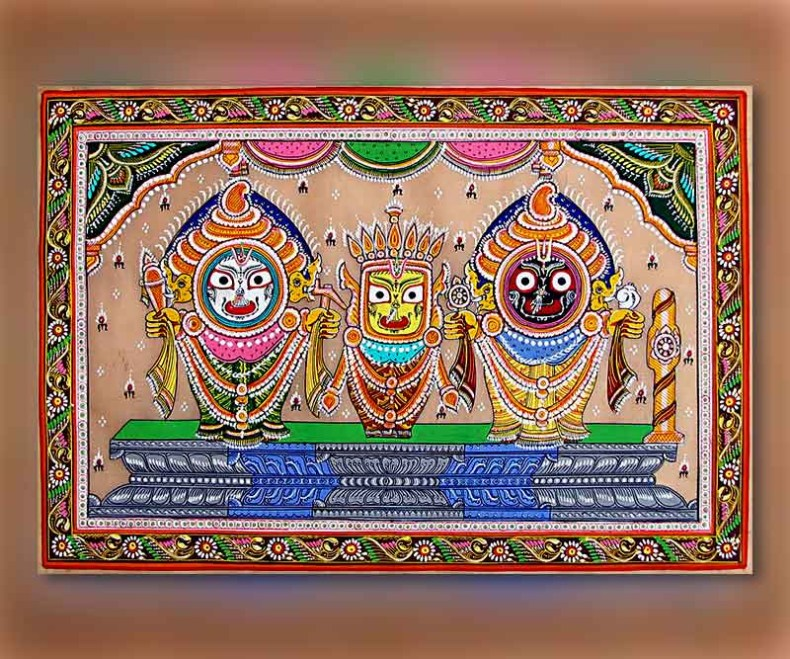 Lord Shri Jagganath Ji through Pattachitra from Odisha.