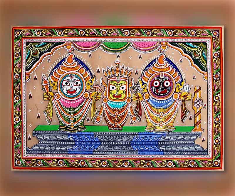 Lord Shri Jagganath Ji through Pattachitra from Odisha.