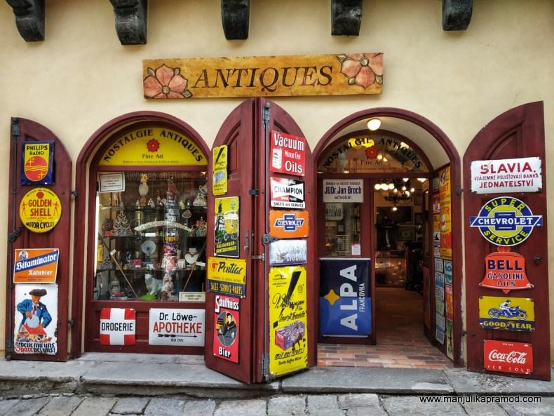 Antique shops of Cesky Krumlov