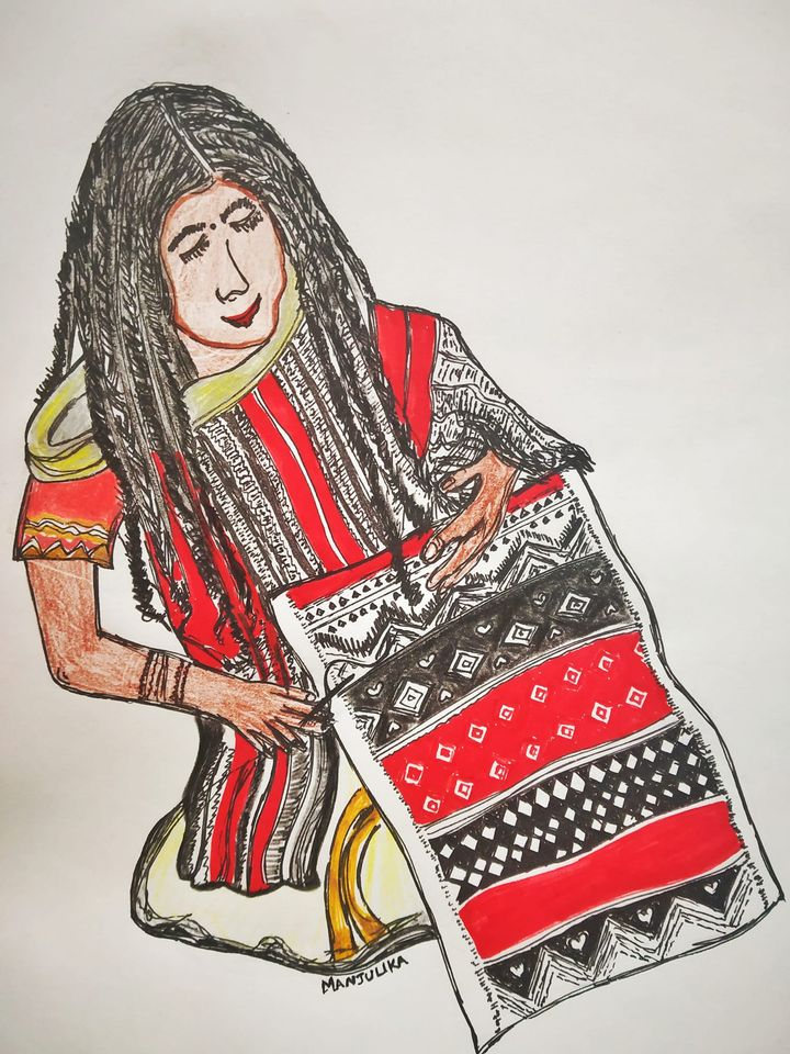 Drawing of an Indian Artisan -Toda tribes!