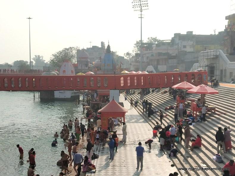 Bathing ghats of Haridwar - Kumbh