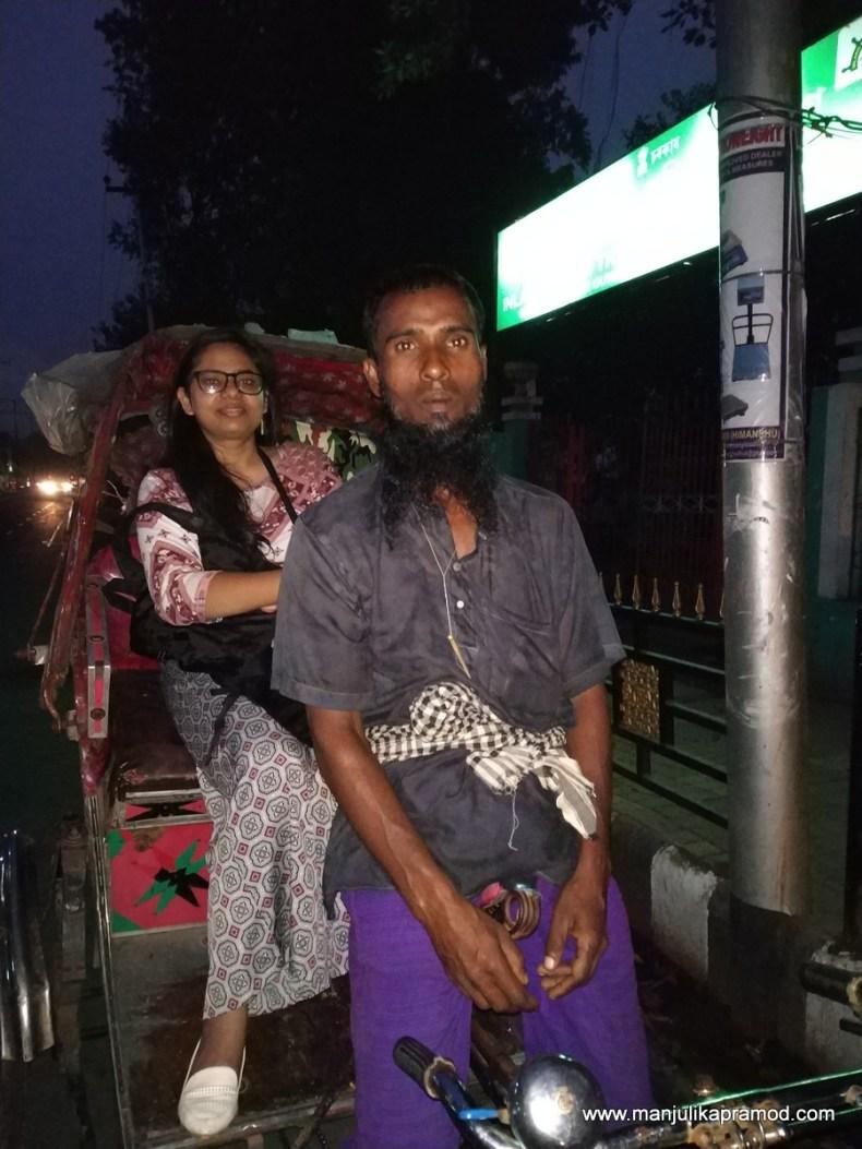 Rickshaw ride in Guwahati
