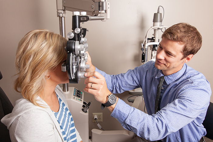 Routine Eye Care Exam at Ophthalmology Associates in Mankato