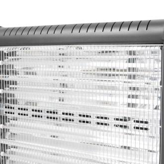 4 Infrarot-Quarzröhren neuester Technologie mit integrierten Lüftungsschlitzen