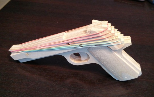 Semi-automatic rubberband gun