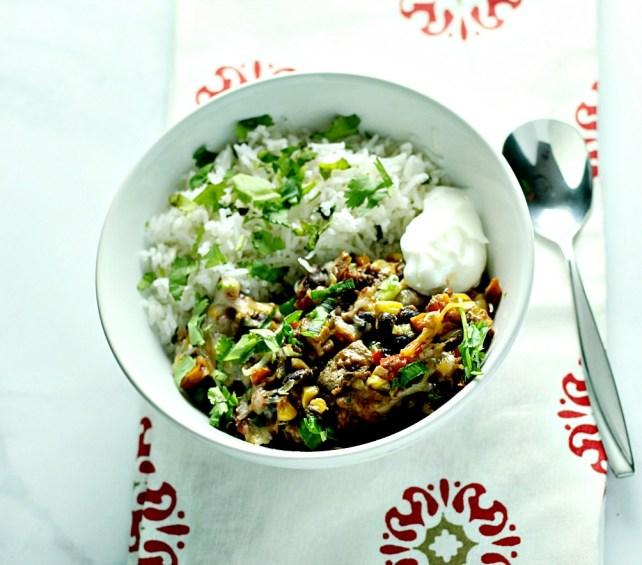 20 Minute Southwest Chicken Skillet3www.mannaandspice.com