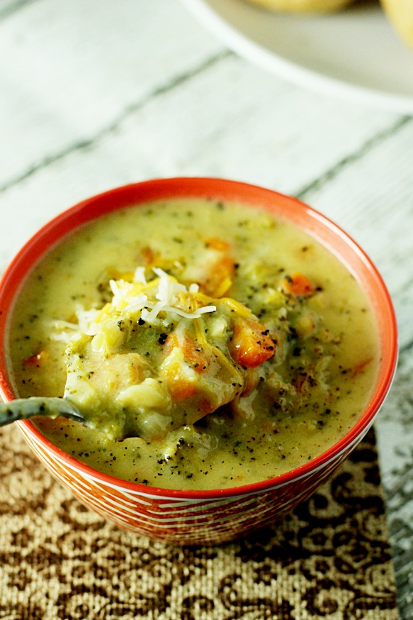 Broccoli Cheddar Soup 4www.mannaandspice.com