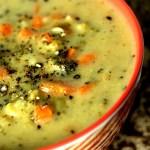 Broccoli Cheese Soup|www.mannaandspice.com