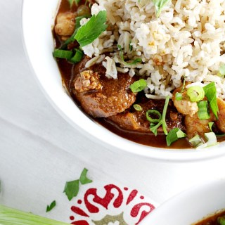 Ligthened Up Chicken Gumbo|www.mannaandspice.com