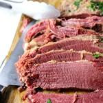 Slow Cooker Corned Beef|www.mannaandspice.com
