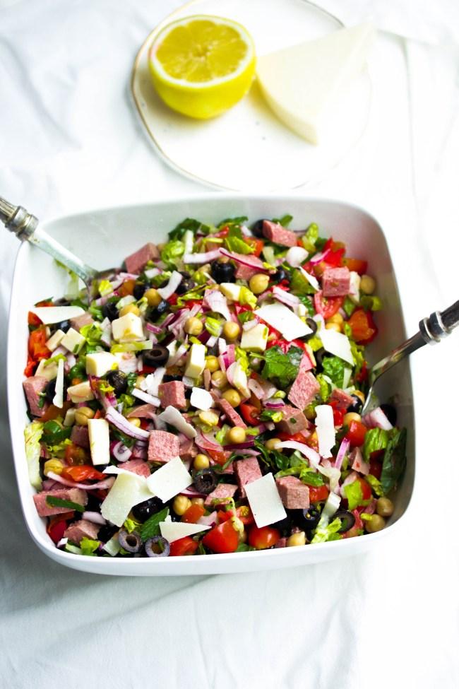 Summertime Chopped Antipasto Salad www.mannaandspice.com
