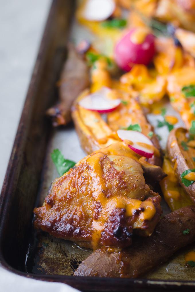 Fresno Chicken Sheet Pan Dinner| www.mannaandspice.com