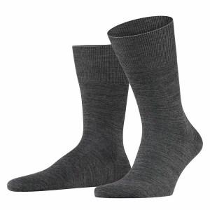 Donker grijs gemeleerde heren sokken van het merk Falke.