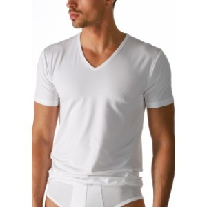 Mey heren V-hals T-shirt - serie Dry cotton - wit