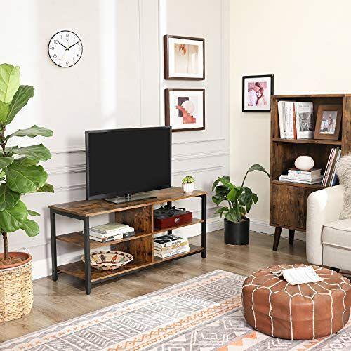 meuble support pour tv en bois et acier