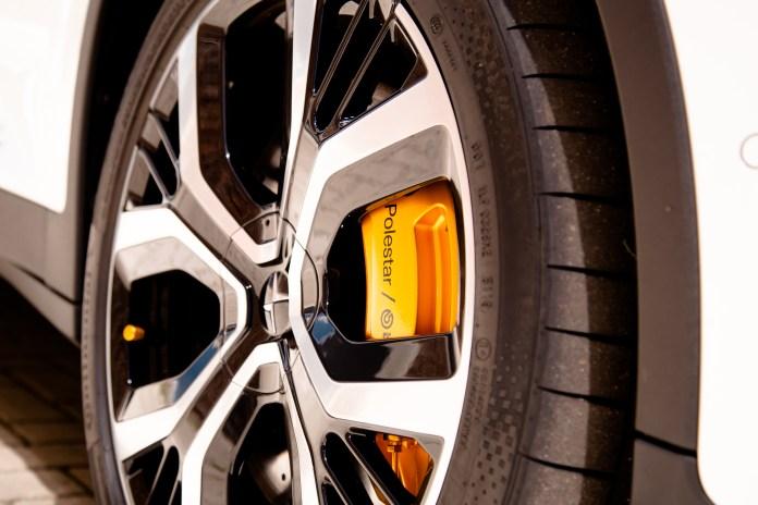 Gold colored Brembo brake discs