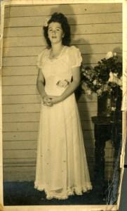 Mum Lorna Budden (nee Sawyer) at Mondrook Hall
