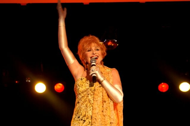 Vivacious Hazel Phillips at her best - singing and dancing up a storm.