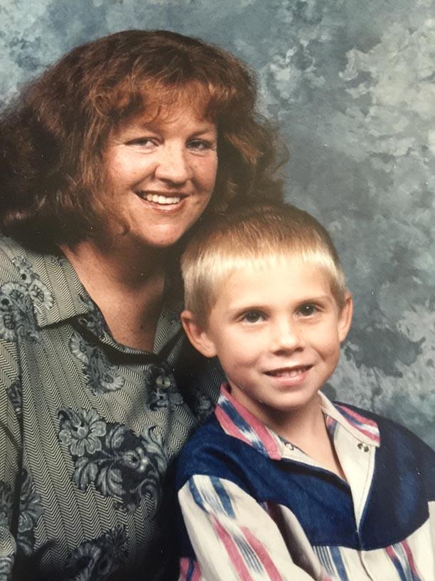 Ricky and his Mum, Nerida.
