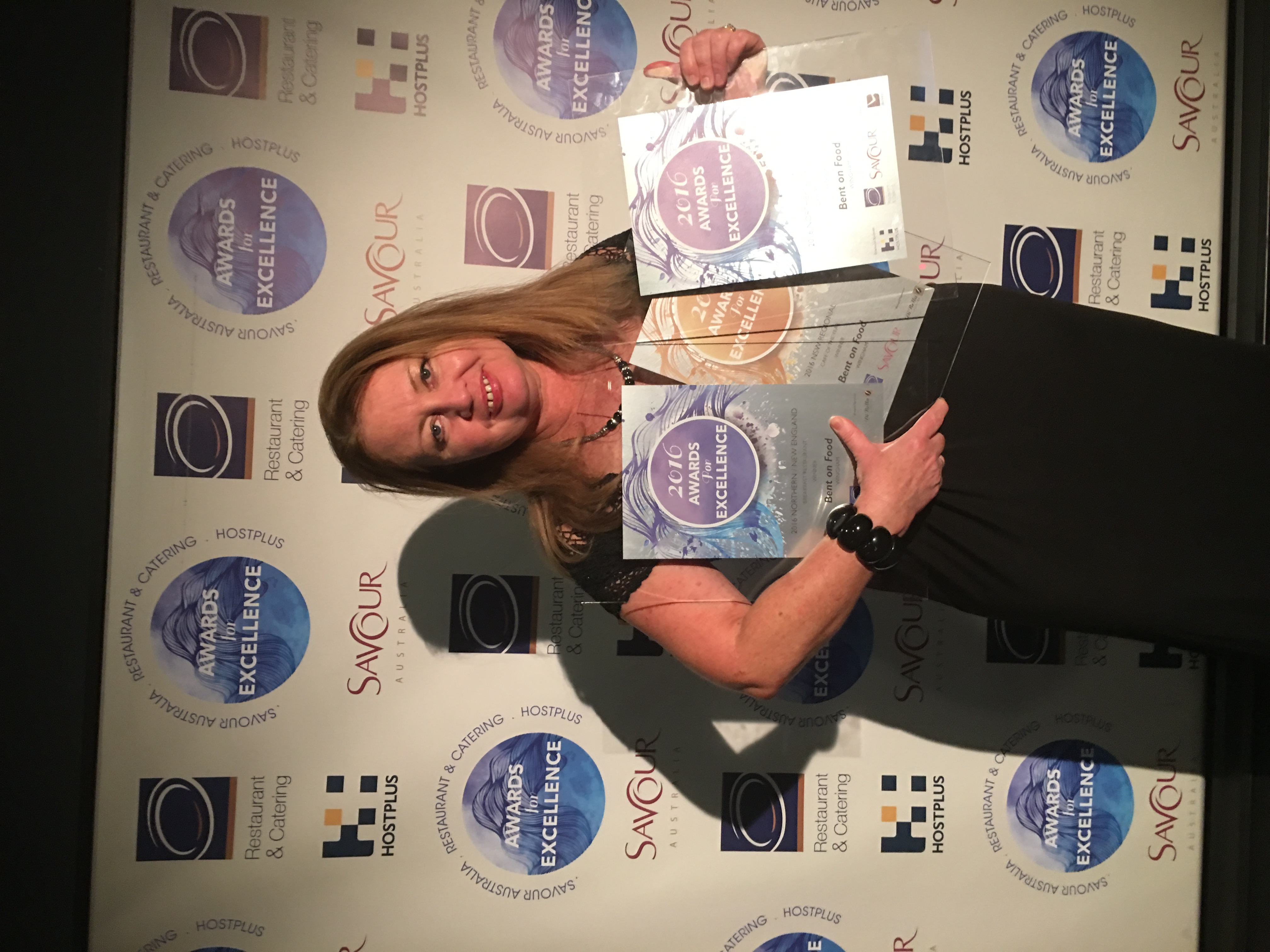 Donna with her latest awards.