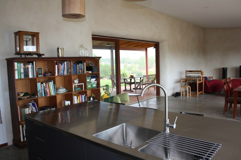 A kitchen with a view