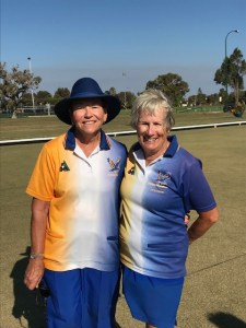 Manning Bowling Club 2020/21 2 Bowls Single Ladies Champion Anne Crabb and Runner up Sue Barrow