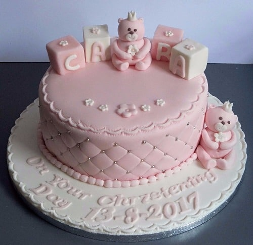 Teddy Blocks Christening Cake Mannings Bakery