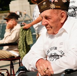 veterans disability benefits - Veteran on Wheelchair